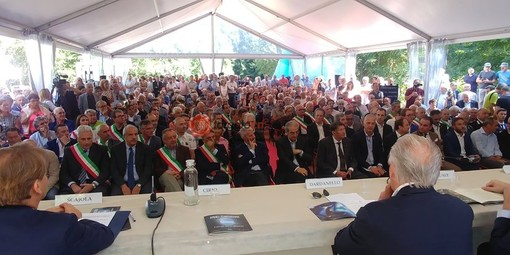 Piemonte e Liguria uniti nelle infrastrutture: presentato il progetto del traforo Armo-Cantarana (FOTO)