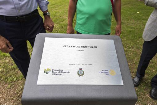 Sant'Albano Stura: inaugurati i giardini del parco Olmi