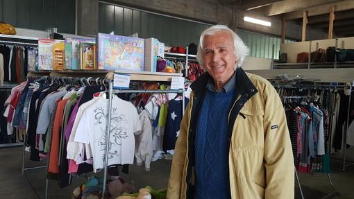 Roberto Ponzo, vicepresidente dell'associazione 'Nonsolonoi' nella sede del POLO