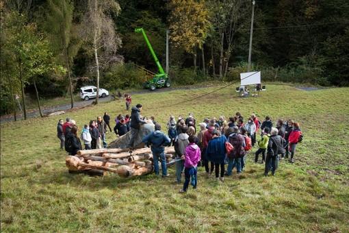 L'installazione di land art ad opera di Johannes Pfeiffer inagurata domenica 11 ottobre.