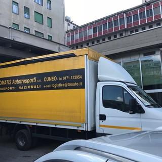 La Tomatis Autotrasporti a servizio dell'Ospedale di Cuneo