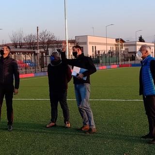 """Olivero Impianti e il Comune di Centallo accendono la nuova illuminazione del campo """"sintetico di Via delle Scuole"""" (FOTO E VIDEO)"""