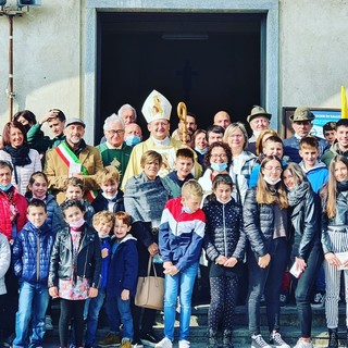 Grande partecipazione a Rifreddo per la visita pastorale del vescovo saluzzese Cristiano Bodo