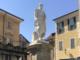 La statua restaurata e senza impalcatura