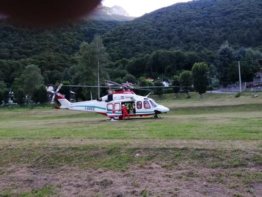 Chiusa Pesio: Soccorso Alpino ed elisoccorso intervengono per un bambino con trauma toracico