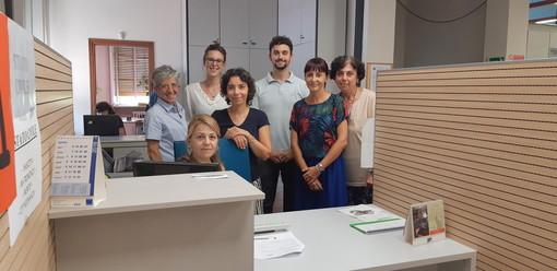 Saluzzo, lo staff dei Servizi demografici nei nuovi uffici