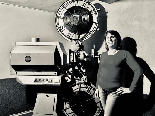 La conduttrice della serata, Silvia Gullino nella foto di Guido Harari