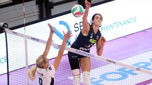 Federica Stufi in azione con la maglia della Vbc Èpiù Casalmaggiore nella passata stagione (credit Rubin / LVF)