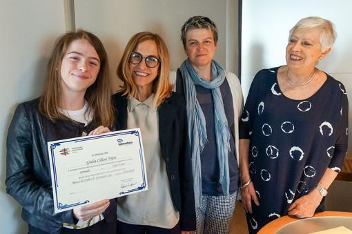 Da sinistra Giulia Cileni Nepis, Erica Azzoaglio, Antonella Germini e Claudia Chiaperotti