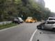 Scontro tra auto e camion sulla Strada statale 28 a Mondovì