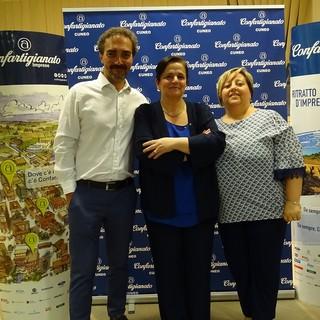 Presidenza, da sinistra: Vincenzo Pallonetto (vicepresidente), Anna Maria Sepertino (presidente di zona), Elisa Reviglio (vicepresidente vicario)