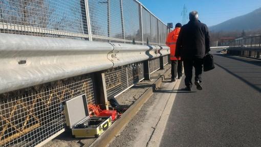 Foto di un precedente sopralluogo sul ponte