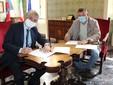 Il sindaco Bo con il consigliere Mario Sandri