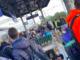 La stazione di Cavallermaggiore questa mattina affollata di studenti in attesa del treno per Savigliano e Fossano