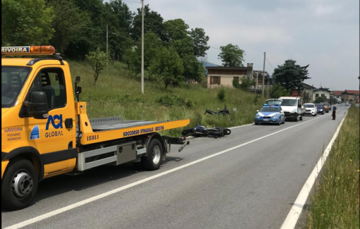 Scontro tra due moto a Gaiola sulla strada statale 21 colle della Maddalena