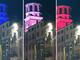 Savigliano: la torre civica si illumina con i colori della bandiera francese (FOTO)