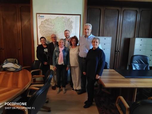 Cuneo, i promotori del tavolo di coordinamento per la difesa degli animali: con Federico Borgna, Enrico Moriconi, Mario Figoni, Laura Barbero, Enrica Piano, Ivana Borsotto