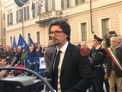 """Toninelli sull'At-Cn: """"Inizio lavori entro l'estate, manterremo progetto con un risparmio di 213 milioni di euro"""" (FOTO E VIDEO)"""
