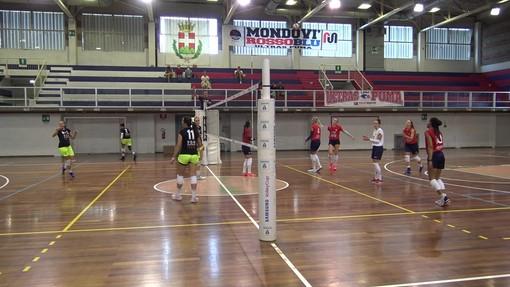 Una immagine del test match tra Mondovì e Pinerolo