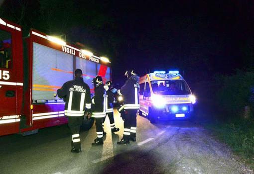 Incidente a Robilante, vettura si ribalta nel vallone Ciastellar: grave un 67enne