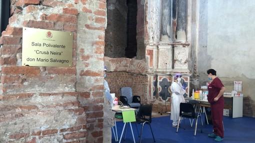 Savigliano: alla Crusà Neira oggi terminano le vaccinazioni sugli 80enni