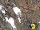 Un momento del recupero dei due alpinisti
