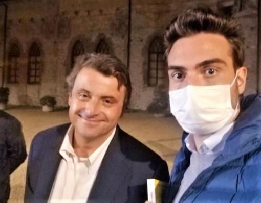 """Andrea Vassallo e Carlo Calenda a Cuneo, in occasione della presentazione del suo ultimo libro """"I mostri e come sconfiggerli"""""""